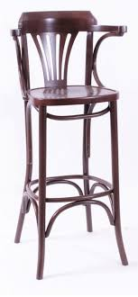 bayson quality bar stool wood frame high stool walnut fully assembled with arms