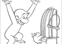 Curious George Coloring Pages Cartoon For Kids Unicorn Disney Easy