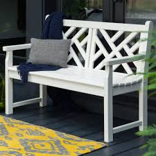 patio furniture white. Chair:Classy Vineyard Recycled Plastic Garden Bench White Resin Outdoor Furniture Benches Seat Chair Park Patio I