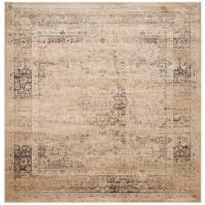 safavieh vintage warm beige 6 ft x 6 ft square area rug