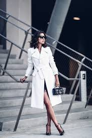a bright white trench is an absolute statement adding endless glamour to any of your