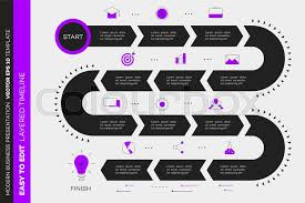 Layered Infographic Timeline Vector Stock Vector