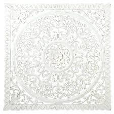 white large fl patterned wood carved decorative wall decor uk