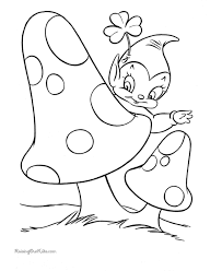 Small Picture St Patricks Day Coloring Pages Mushroom Coloring Pages