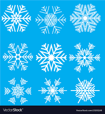 Collection Of Snowflake Designs Royalty Free Vector Image