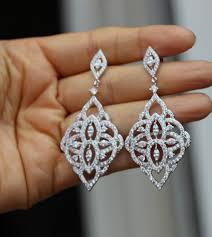 silver crystal bridal earring bridal jewelry chandelier earring crystal wedding earrings