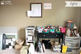 home office makeover. Home Office Reveal At JustAGirlAndHerBlog.com Makeover