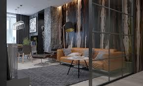 sleek apartments with interior glass walls