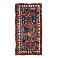 antique kazakh wool rug 3 11 x7 6