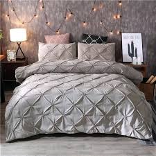 luxury duvet cover sets luxury duvet cover set grey pinch pleat 2 twin queen king size luxury duvet cover sets