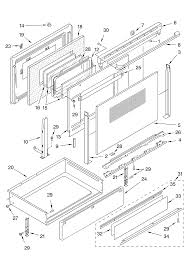 ykerc507hw4 free standing electric range door and drawer parts diagram oven chassis parts diagram