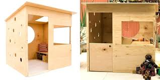 easy to build playhouse plans free this simple modern eastern white pine 1