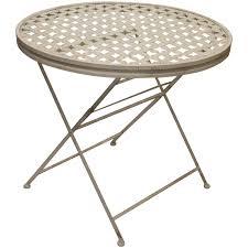 round metal patio table suncoast cast aluminum maribelle folding garden dining outdoor furniture end glass top