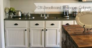 DIY Beadboard Wallpaper Cabinets - Nest of Bliss