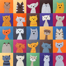 Animal Quilt Patterns Custom Cats Quilt Pattern Shiny Happy World
