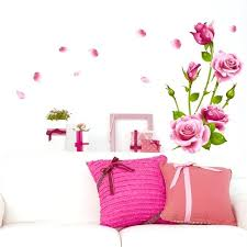 rose wall decal rose wall decal sticker home decor removable art vinyl mural for living rose wall