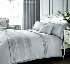 charcoal grey king size duvet cover set luxury bedding silver diamante quilt be