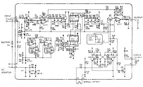 boss ce 2b bass chorus pedal schematic diagram schematic diagram of boss ce 2b bass chorus pedal