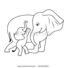 Mom And Baby Elephant Coloring Pages Cartoon Mother Page Coloring
