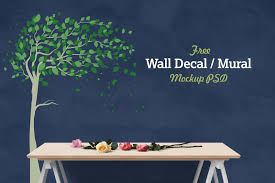 Free Decal Designs Free Vinyl Wall Decal Mural Sticker Art Mockup Psd Good