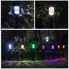 Pillar Solar Lights For Outdoors Us 12 14 30 Off 5pcs 10pcs Solar Garden Light Outdoor Lawn Pillar Lamp Spike Led Lights Spot Light Landscape Yard Path Lawn Solar Lamp 6 Colors In