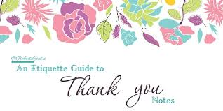 Wedding Gift Thank You Etiquette Tips : Roberts Centre