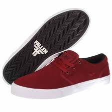 fallen skate shoes. fallen the easy skate shoes - burgundy/copper h