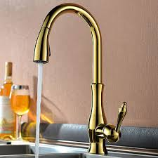 Bronze Kitchen Sink Faucets Deck Mounted Kitchen Sink Faucet With Pull Down Spray