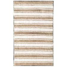 madison sand reversible stripe bath rug in sand