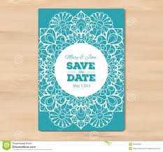 Wedding Invitation Card Template Save Date Wooden Background Vintage