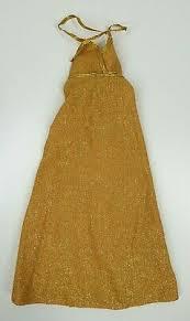 VINTAGE BIONIC WOMAN Jaime Summers Gold Golden Dress Evening Kenner #65900  - EUR 22,50 | PicClick DE