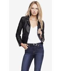 Lyst - Express (Minus The) Leather Quilted Shoulder Moto Jacket in ... & Gallery Adamdwight.com