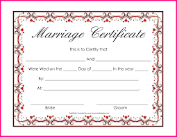 Wedding Certificate Template Collection Of solutions Wedding Certificate Template Word Also 1