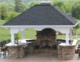 Building An Outdoor Kitchen Outdoor Kitchen With Fireplace In Summer Outdoor Furniture Style