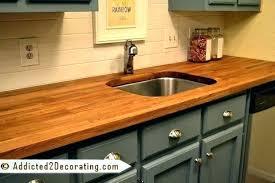 sealing butcher block countertops with waterlox finishing butcher block plus to prepare inspiring walnut stained butcher