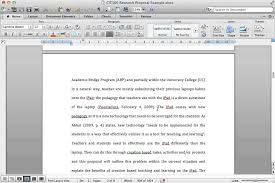 Example Of Starting Apa Research Paper