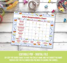 Doc Mcstuffins Chore Chart Dragonfly Chore Chart For Kids Printable Responsibility Chart Weekly Chore Chart Editable Daily Chore Chart For Girls You Edit Pdf