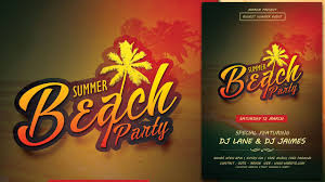 How To Create A Party Flyer Create A Summer Beach Party Flyer In Photoshop Youtube