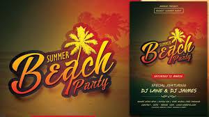 Beach Flyer Create A Summer Beach Party Flyer In Photoshop Youtube