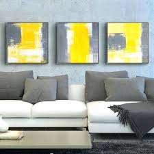 i sofa wall art yellow and gray grey black