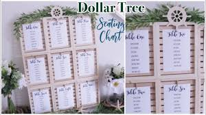 Seating Chart For Small Wedding Dollar Tree Wedding Seating Chart Diy Farmhouse Coastal Wedding Decor
