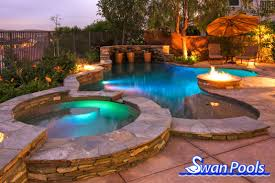 custom swimming pool designs. Brilliant Custom Swimming Pool And Spa Party Time With This Complete Swimming  Construction Entertainment Area With Custom Pool Designs M
