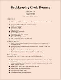 Bookkeeping Clerk Resume Sample For Microsoft Word Doc Office