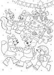 Картинки раскраски для нового года