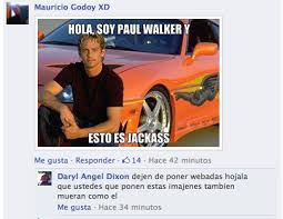 RECOPILATORIO de algunos CRUELES MEMES & GIFS sobre PAUL WALKER ... via Relatably.com
