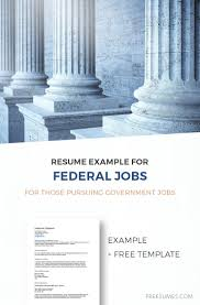 Federal Resume Example For Those Pursuing Government Jobs Freesumes