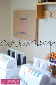 on wall art for craft room with craftaholics anonymous craft room wall art