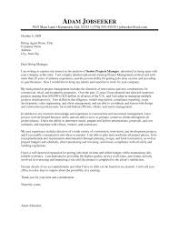 program manager cover letter samples 10 project manager cover letter samples payment format