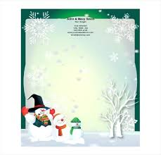 Christmas Stationary Template Free Download Sample Format Holiday