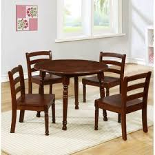 kids 5 piece round table and chair set